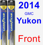 Front Wiper Blade Pack for 2014 GMC Yukon - Hybrid