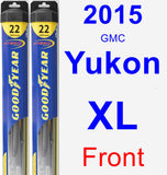 Front Wiper Blade Pack for 2015 GMC Yukon XL - Hybrid