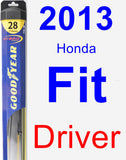 Driver Wiper Blade for 2013 Honda Fit - Hybrid