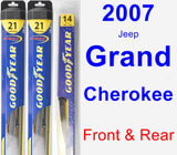 Front & Rear Wiper Blade Pack for 2007 Jeep Grand Cherokee - Hybrid