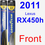 Front Wiper Blade Pack for 2011 Lexus RX450h - Hybrid