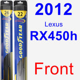 Front Wiper Blade Pack for 2012 Lexus RX450h - Hybrid