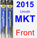 Front Wiper Blade Pack for 2015 Lincoln MKT - Hybrid
