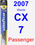 Passenger Wiper Blade for 2007 Mazda CX-7 - Hybrid