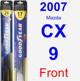 Front Wiper Blade Pack for 2007 Mazda CX-9 - Hybrid
