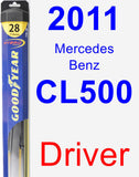 Driver Wiper Blade for 2011 Mercedes-Benz CL500 - Hybrid