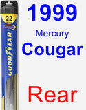 Rear Wiper Blade for 1999 Mercury Cougar - Hybrid