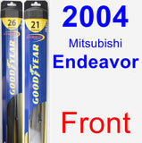 Front Wiper Blade Pack for 2004 Mitsubishi Endeavor - Hybrid