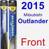 Front Wiper Blade Pack for 2015 Mitsubishi Outlander - Hybrid