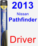 Driver Wiper Blade for 2013 Nissan Pathfinder - Hybrid