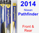 Front & Rear Wiper Blade Pack for 2014 Nissan Pathfinder - Hybrid
