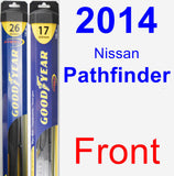 Front Wiper Blade Pack for 2014 Nissan Pathfinder - Hybrid