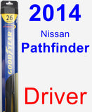 Driver Wiper Blade for 2014 Nissan Pathfinder - Hybrid