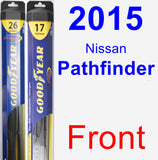 Front Wiper Blade Pack for 2015 Nissan Pathfinder - Hybrid