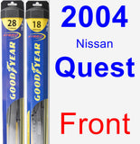 Front Wiper Blade Pack for 2004 Nissan Quest - Hybrid