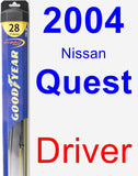 Driver Wiper Blade for 2004 Nissan Quest - Hybrid