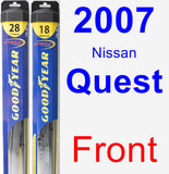 Front Wiper Blade Pack for 2007 Nissan Quest - Hybrid
