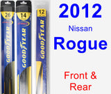 Front & Rear Wiper Blade Pack for 2012 Nissan Rogue - Hybrid