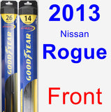 Front Wiper Blade Pack for 2013 Nissan Rogue - Hybrid
