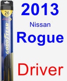 Driver Wiper Blade for 2013 Nissan Rogue - Hybrid