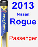 Passenger Wiper Blade for 2013 Nissan Rogue - Hybrid