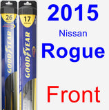 Front Wiper Blade Pack for 2015 Nissan Rogue - Hybrid