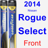 Front Wiper Blade Pack for 2014 Nissan Rogue Select - Hybrid