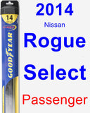 Passenger Wiper Blade for 2014 Nissan Rogue Select - Hybrid