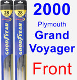 Front Wiper Blade Pack for 2000 Plymouth Grand Voyager - Hybrid
