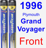 Front Wiper Blade Pack for 1996 Plymouth Grand Voyager - Hybrid