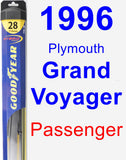 Passenger Wiper Blade for 1996 Plymouth Grand Voyager - Hybrid
