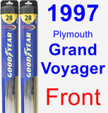 Front Wiper Blade Pack for 1997 Plymouth Grand Voyager - Hybrid