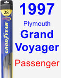 Passenger Wiper Blade for 1997 Plymouth Grand Voyager - Hybrid