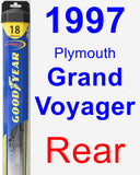 Rear Wiper Blade for 1997 Plymouth Grand Voyager - Hybrid