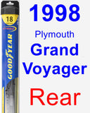 Rear Wiper Blade for 1998 Plymouth Grand Voyager - Hybrid