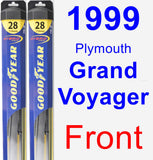 Front Wiper Blade Pack for 1999 Plymouth Grand Voyager - Hybrid