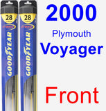 Front Wiper Blade Pack for 2000 Plymouth Voyager - Hybrid