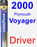 Driver Wiper Blade for 2000 Plymouth Voyager - Hybrid