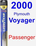 Passenger Wiper Blade for 2000 Plymouth Voyager - Hybrid