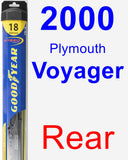 Rear Wiper Blade for 2000 Plymouth Voyager - Hybrid