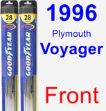 Front Wiper Blade Pack for 1996 Plymouth Voyager - Hybrid