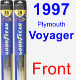 Front Wiper Blade Pack for 1997 Plymouth Voyager - Hybrid