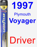 Driver Wiper Blade for 1997 Plymouth Voyager - Hybrid