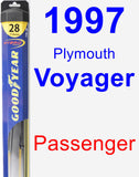 Passenger Wiper Blade for 1997 Plymouth Voyager - Hybrid