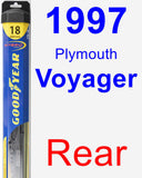 Rear Wiper Blade for 1997 Plymouth Voyager - Hybrid