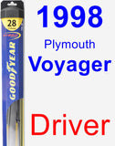 Driver Wiper Blade for 1998 Plymouth Voyager - Hybrid