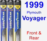 Front & Rear Wiper Blade Pack for 1999 Plymouth Voyager - Hybrid