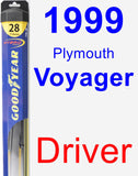 Driver Wiper Blade for 1999 Plymouth Voyager - Hybrid