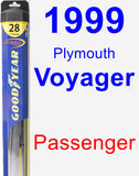 Passenger Wiper Blade for 1999 Plymouth Voyager - Hybrid
