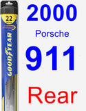 Rear Wiper Blade for 2000 Porsche 911 - Hybrid